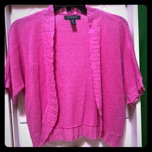 Ralph Lauren pink shrug S/M new without tags